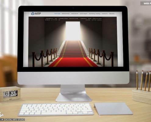 طراحی وب سایت ژورنال زبان انگلیسی JLTTP - موج شکن